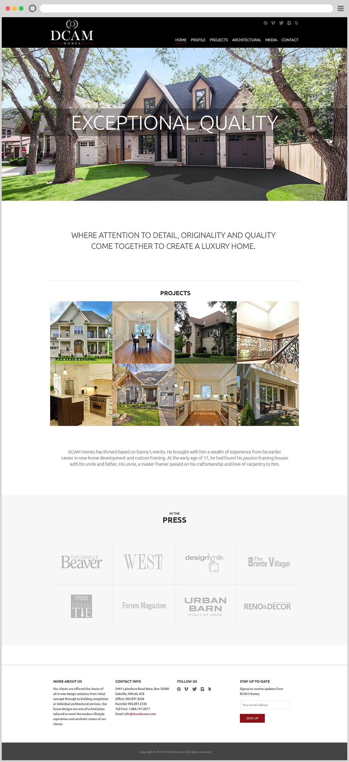 DCAM Homes – Mango Advertising & Design